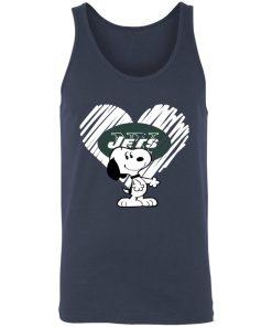I Love New York Jets Snoopy In My Heart NFL 3480 Unisex Tank