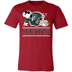 The New York Jets Joe Cool And Woodstock Snoopy Mashup Unisex Jersey Tee