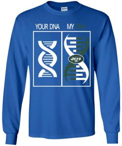 My DNA Is The New York Jets Football NFL Youth LS T-Shirt