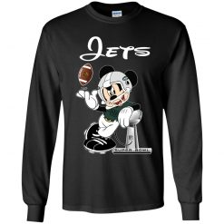 Mickey Jets Taking The Super Bowl Trophy Football Youth LS T-Shirt