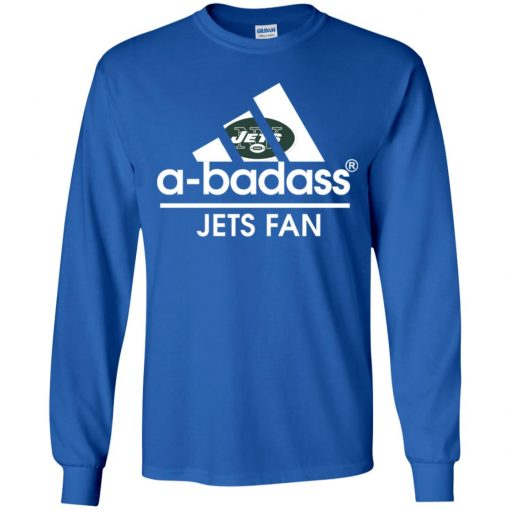 A-Badass New York Jets Mashup Adidas NFL Youth LS T-Shirt