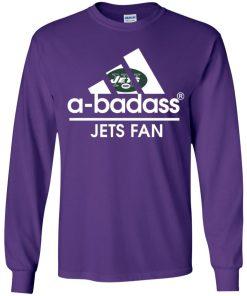 A-Badass New York Jets Mashup Adidas NFL Youth LS T-Shirt