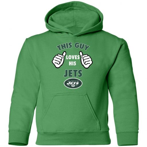 This Guy Loves His New York Jets Youth Hoodie