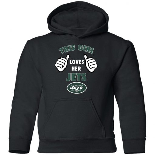 This Girl Loves Her New York Jets Youth Hoodie