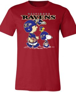 Baltimore Ravens Let's Play Football Together Snoopy NFL Shirts Unisex Jersey Tee