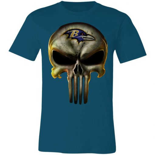 Baltimore Ravens The Punisher Mashup Football Shirts Unisex Jersey Tee