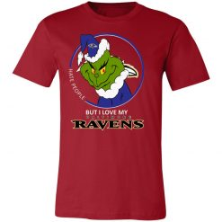 I Hate People But I Love My Baltimore Ravens Grinch NFL Shirts Unisex Jersey Tee