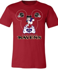 I Love The Ravens Mickey Mouse Baltimore Ravens Unisex Jersey Tee