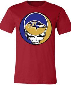 NFL Team Baltimore Ravens x Grateful Dead Unisex Jersey Tee