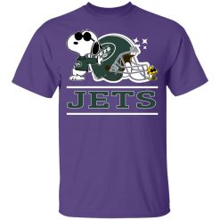 The New York Jets Joe Cool And Woodstock Snoopy Mashup Youth's T-Shirt