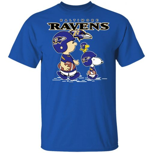 Baltimore Ravens Let's Play Football Together Snoopy NFL Shirts Men's T-Shirt