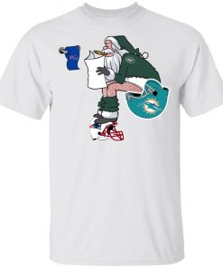 Santa Claus New York Jets Shit On Other Teams Christmas Youth's T-Shirt