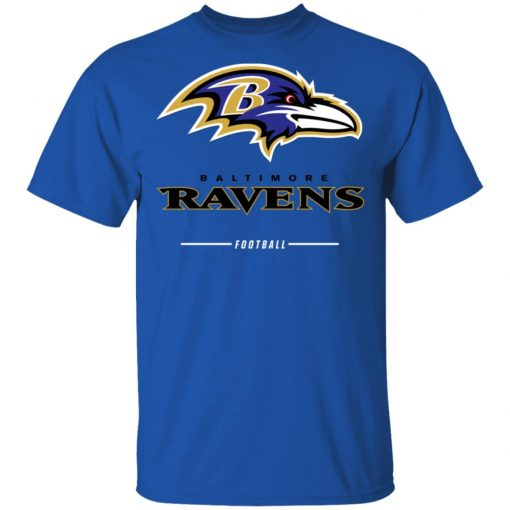 Baltimore Ravens NFL Pro Line Black Team Lockup Men's T-Shirt