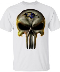 Baltimore Ravens The Punisher Mashup Football Shirts Men's T-Shirt