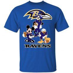 Mickey Donald Goofy The Three Baltimore Ravens Football Shirts Men's T-Shirt