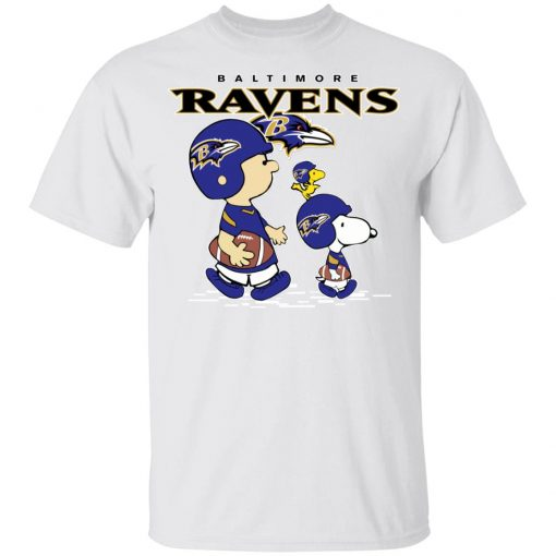 Baltimore Ravens Let's Play Football Together Snoopy NFL Shirts Youth's T-Shirt