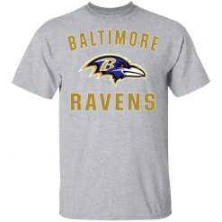 Baltimore Ravens NFL Line by Fanatics Branded Gray Victory Youth's T-Shirt