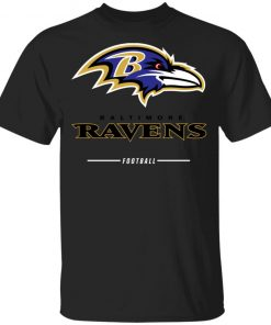 Baltimore Ravens NFL Pro Line Black Team Lockup Youth's T-Shirt