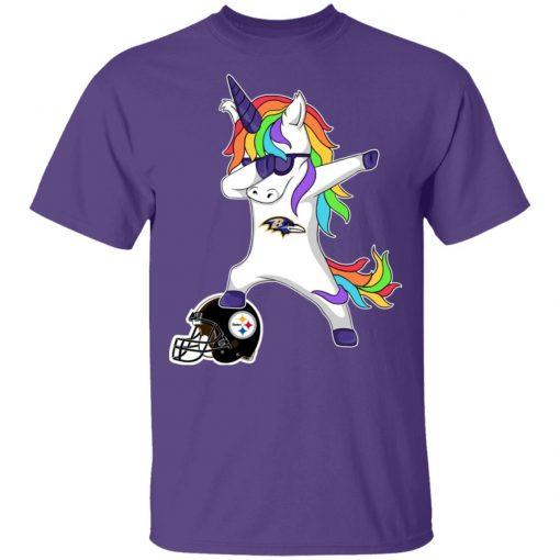 Football Dabbing Unicorn Steps On Helmet Baltimore Ravens Shirts Youth's T-Shirt