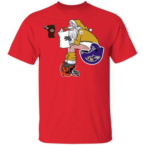 Santa Claus Pittsburgh Steelers Shit On Other Teams Christmas Youth's T-Shirt