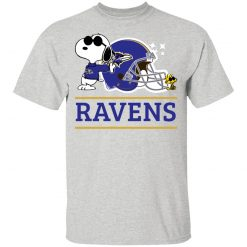 The Baltimore Ravens Joe Cool And Woodstock Snoopy Mashup Youth's T-Shirt