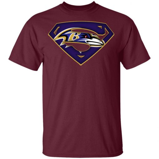 We Are Undefeatable The Baltimore Ravens x Superman NFL Youth's T-Shirt