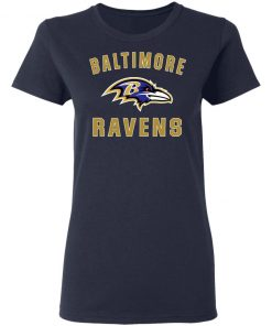 Baltimore Ravens NFL Line by Fanatics Branded Gray Victory Women's T-Shirt