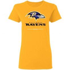 Baltimore Ravens NFL Pro Line Black Team Lockup Women's T-Shirt
