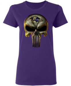Baltimore Ravens The Punisher Mashup Football Shirts Women's T-Shirt