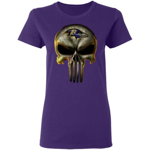 Baltimore Ravens The Punisher Mashup Football Shirts Women's T-Shirt