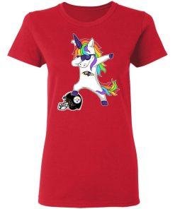 Football Dabbing Unicorn Steps On Helmet Baltimore Ravens Shirts Women's T-Shirt