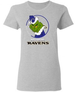 I Hate People But I Love My Baltimore Ravens Grinch NFL Shirts Women's T-Shirt
