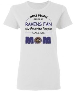 Most People Call Me Baltimore Ravens Fan Football Mom Women's T-Shirt