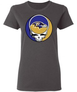 NFL Team Baltimore Ravens x Grateful Dead Women's T-Shirt