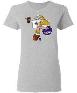 Santa Claus Pittsburgh Steelers Shit On Other Teams Christmas Women's T-Shirt