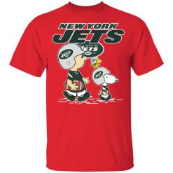 New York Jets Let's Play Football Together Snoopy NFL Youth's T-Shirt