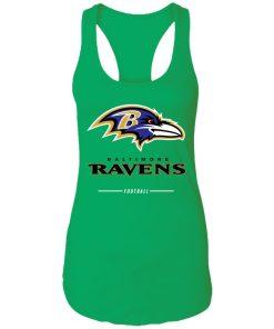 Baltimore Ravens NFL Pro Line Black Team Lockup Racerback Tank