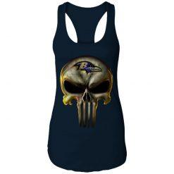 Baltimore Ravens The Punisher Mashup Football Shirts Racerback Tank