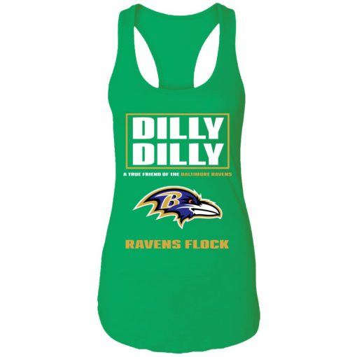 Dilly Dilly A True Friend Of The Baltimore Ravens Shirts Racerback Tank
