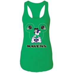 I Love The Ravens Mickey Mouse Baltimore Ravens Racerback Tank