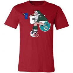 Santa Claus New York Jets Shit On Other Teams Christmas Unisex Jersey Tee