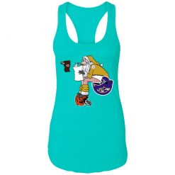 Santa Claus Pittsburgh Steelers Shit On Other Teams Christmas Racerback Tank