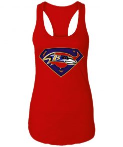 We Are Undefeatable The Baltimore Ravens x Superman NFL Racerback Tank