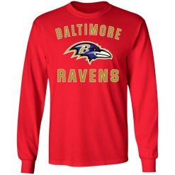 Baltimore Ravens NFL Line by Fanatics Branded Gray Victory LS T-Shirt