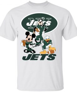 Mickey Donald Goofy The Three New York Jets Football Youth's T-Shirt