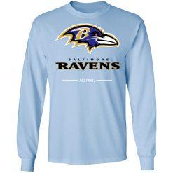 Baltimore Ravens NFL Pro Line Black Team Lockup LS T-Shirt