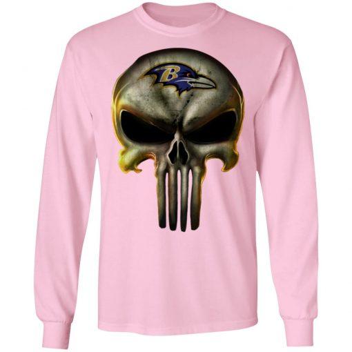 Baltimore Ravens The Punisher Mashup Football Shirts LS T-Shirt