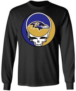 NFL Team Baltimore Ravens x Grateful Dead LS T-Shirt