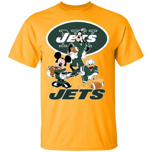 Mickey Donald Goofy The Three New York Jets Football Youth's T-Shirt