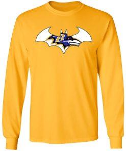 We Are The Baltimore Ravens Batman NFL Mashup LS T-Shirt